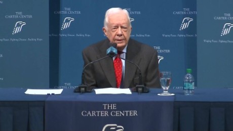 Jimmy Carter Cancer Announcement  key moments AR ORIGWX_00000000