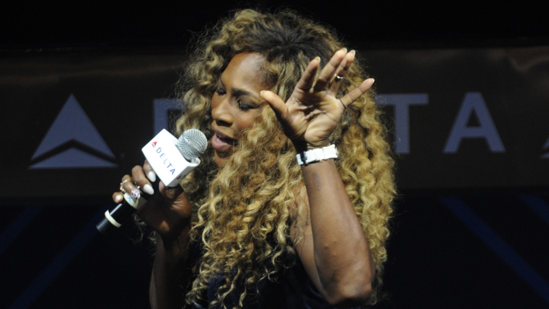 NEW YORK, NY - AUGUST 20:  Serena Williams joins Delta Air Lines for the Delta OPEN Mic, a private karaoke event in celebration of her upcoming defending tennis championship and magazine cover profile with celebrity guests and friends at Arena, on August 20, 2014 in New York City.  (Photo by Bryan Bedder/Getty Images for Delta)