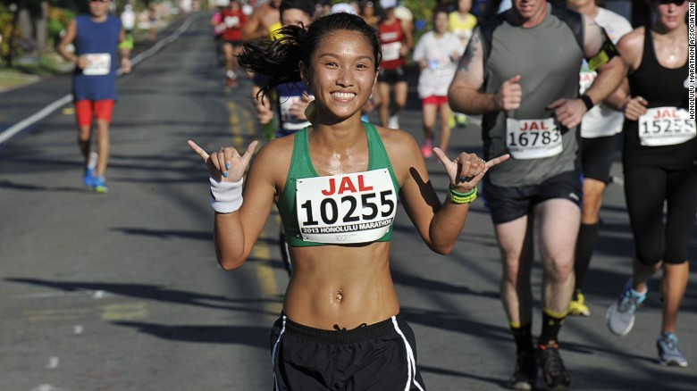 """In keeping with """"the Aloha spirit of Hawaii,"""" the Honolulu marathon has no cutoff time. The race is on until the last person crosses the finish line and collects a medal."""