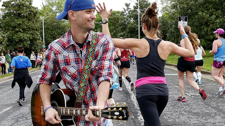 At the St. Jude Marathon in Nashville you might be entertained by future stars of country music.