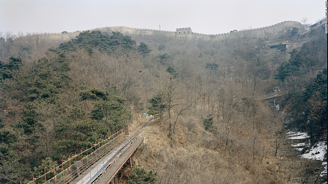 """The Great Wall Toboggan is a treat for tourists visiting the Mutianyu section of the Great Wall. First Lady Michelle Obama took a ride when she visited China in 2014. This is one of the 54 photos featured in the book, """"Chinese Fun."""""""