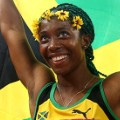 Shelly-Ann Fraser-Pryce flag