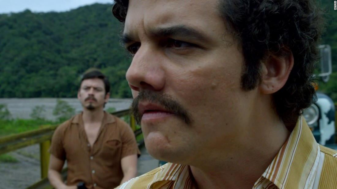"The rise and fall of drug lord Pablo Escobar is at the center of Netflix's new drama ""Narcos."" Wagner Moura stars as Escobar."