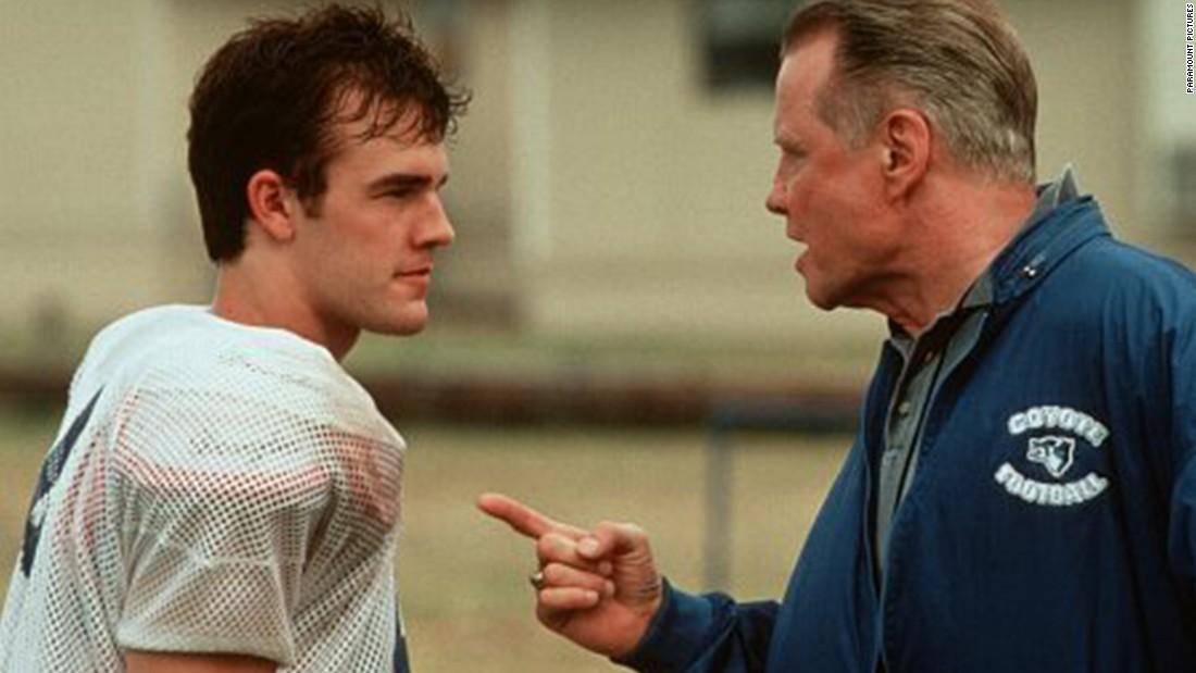 """Varsity Blues"" is another dramatization of Texas high school football. Here, coach Jon Voight faces off with quarterback James Van Der Beek."