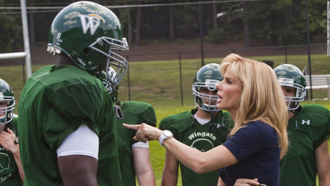"Sandra Bullock won an Oscar for her role as a mom who takes in a homeless teen (played by Quinton Aaron) in 2009's ""The Blind Side."" That real-life teen, Michael Oher, became a star lineman at Ole Miss and joined the NFL."
