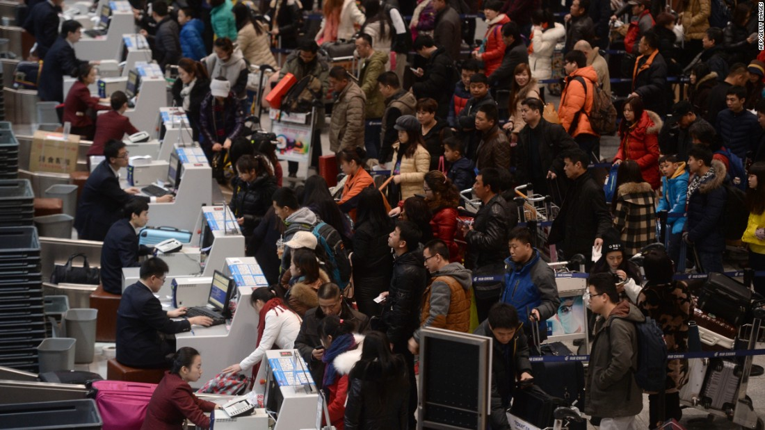 Beijing Airport tied in second place in the category for airports serving more than 40 million passengers. Each year the airport deals with huge crowds during China's spring festival travel rush.  <br />