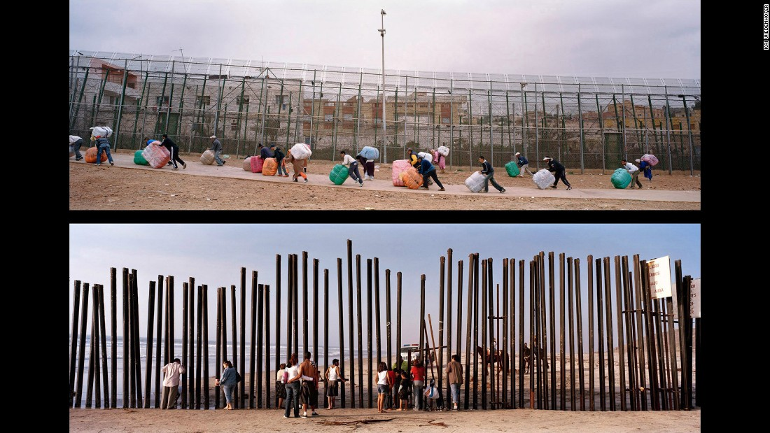 Top: Melilla, Barrio Chino, Spain, 2009. Bottom: Tijuana, Paseo Costero, Mexico, 2008.