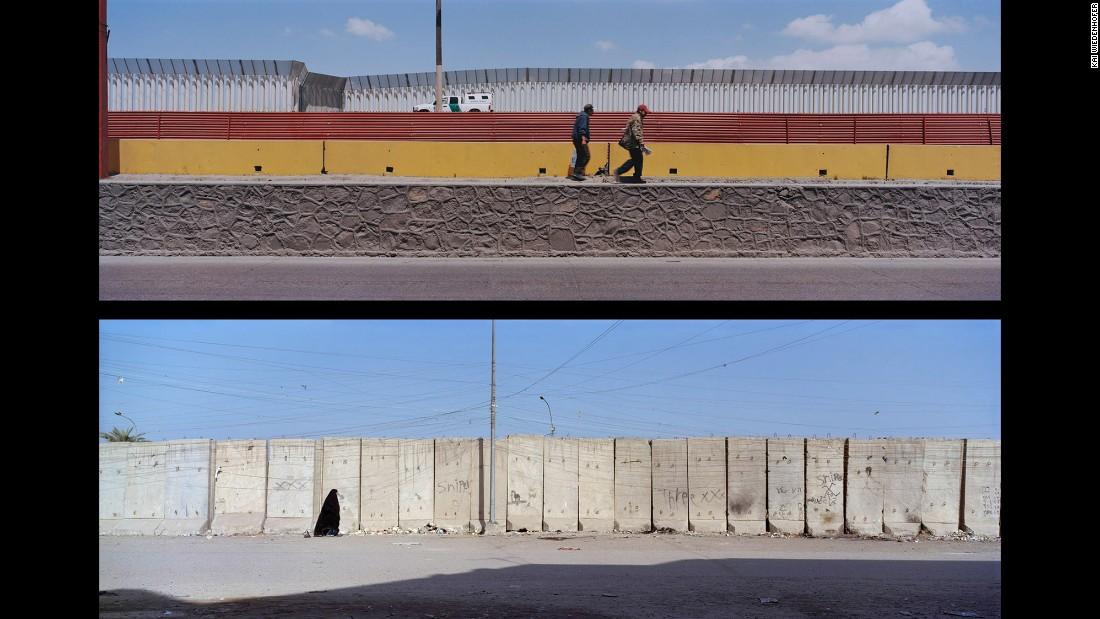 Top: Tijuana, Via International; Mexico, 2007. Bottom: Baghdad, Al-Athamia; Iraq, 2012.
