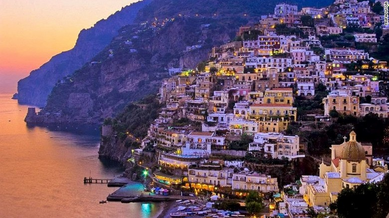 The Amalfi Coast stretches 50 kilometers along the southern side of Italy's Sorrentine Peninsula. It was added to the UNESCO World Heritage list in 1997.