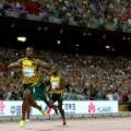 Usain Bolt 200m finish line