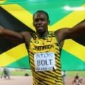 Usain Bolt Jamaica flag