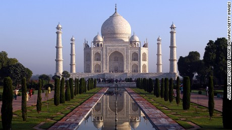 AGRA, INDIA - SEPTEMBER 30:  The Taj Mahal is seen on September 30, 2010 in Agra, India. Completed in 1643, the mausoleum was built by th Mughal emperor Shah Jahan in memory of his third wife, Mumtaz Mahal, who is buried there alongside Jahan.  (Photo by Julian Finney/Getty Images)