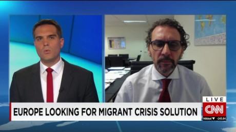 exp Eugenio Ambrosi, International Organization for Migration, discusses the European migrant crisis _00002001