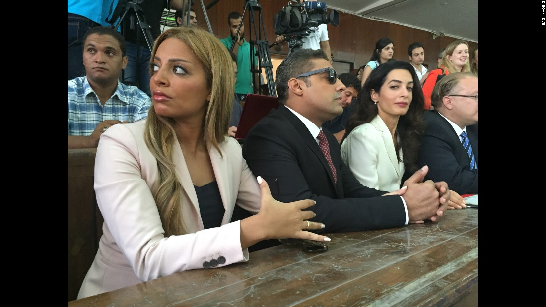 """EGYPT: """"Mohamed Fahmy with his wife (left), and Amal Clooney in an Egyptian court. Mohamed was sentenced to 3 years in prison despite the court's own technical committee saying there was no evidence the #AJE journalists fabricated video."""" - CNN's Ian Lee, August 29.<br />Follow <a href=""""http://instagram.com/ianjameslee"""" target=""""_blank"""">@ianjameslee</a> and other CNNers on the <a href=""""http://instagram.com/cnnscenes"""" target=""""_blank"""">@cnnscenes</a> gallery on Instagram for more images you don't always see on news reports from our teams around the world."""