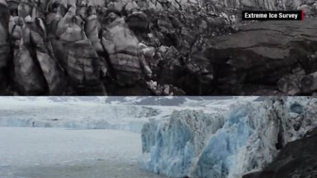 Alaska glacier melting timelapse Mobile_00000624