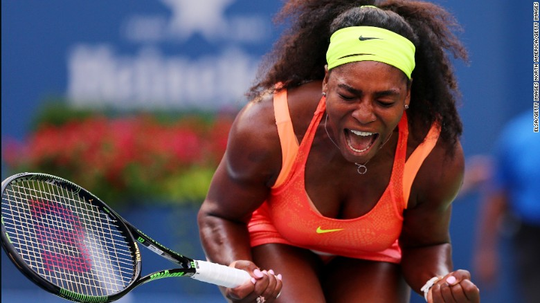 After getting past Kiki Bertens 7-6 (5) 6-3 at the U.S. Open, Serena Williams needs five more wins to achieve the rare calendar-year grand slam.