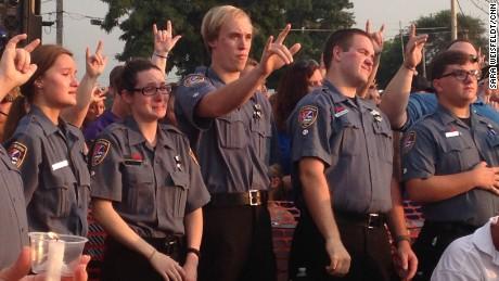 A vigil was held Wednesday for Lt. Joe Gliniewicz, who was killed in Fox Lake, Illinois.