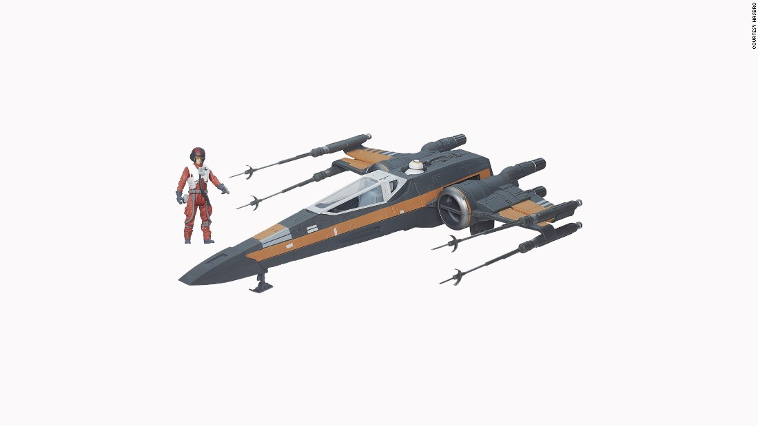 Poe is here with his redesigned X-Wing.