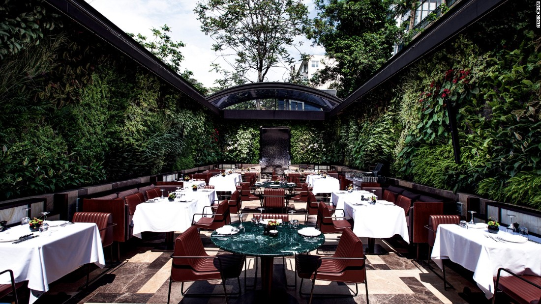 """This leafy green goddess of a restaurant by internationally recognized <a href=""""http://autoban212.com/#/home"""" target=""""_blank"""">studio Autoban</a> stands in the heart of Istanbul's stylish Nisantasi district. <br /><br />Nopa: Design by Autoban, Photo bySergio Ghettifrom <a href=""""http://shop.gestalten.com/out-again.html"""" target=""""_blank"""">Let's Go Out Again</a>, Copyright Gestalten 2015"""