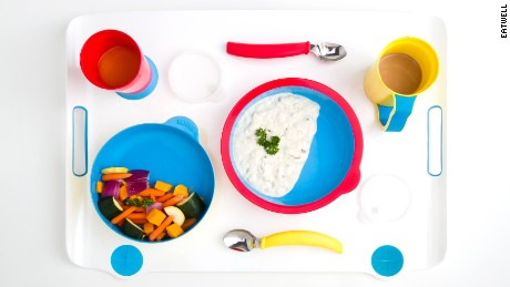 Eatwell tableware set, designed for patients of cognitive impairments, such as Alzheimer's disease