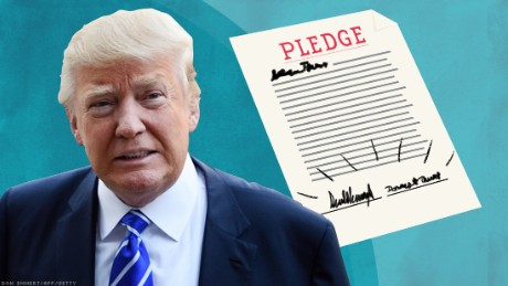 Trump signs GOP loyalty pledge, won't run 3rd party campaign