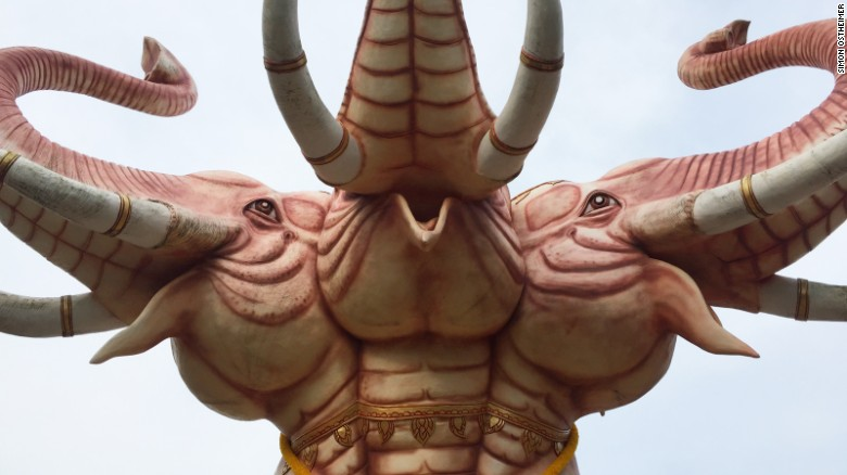 Hat Yai Municipal Park is home to this statue of Erawan, the three-headed elephant.