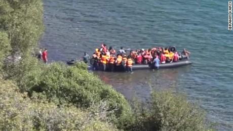 Moments later, smuggler abandons them at sea