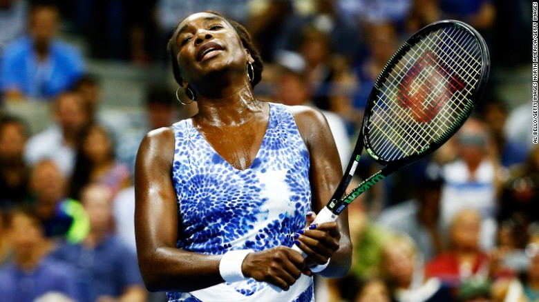 After dropping the first set 2-6, Venus battled back to win the second set 6-1. She lost the third set 6-3.