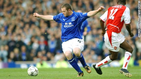 Wayne Rooney left Everton in 2004 to join Manchester United.