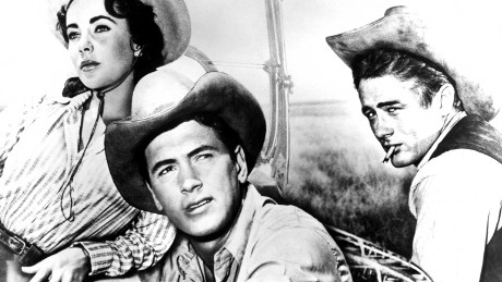 "Liz Taylor in the film ""Giant"" directed by George Stevens in 1956. James Dean, Elizabeth Taylor, Rock Hudson.  (Photo by API/GAMMA/Gamma-Rapho via Getty Images) *** Local Caption *** James Dean;Elizabeth Taylor;Rock Hudson"