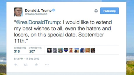 This is the 9/11 tweet that Donald Trump deleted ...