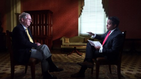 Senator Mitch McConnell there will not be a shutdown Planned Parenthood funding manu raju interview_00011007
