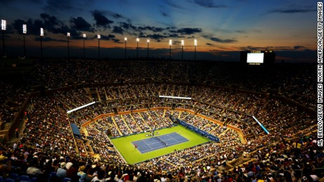 NEW YORK, NY - AUGUST 27:  A general view of the Arthur Ashe Stadium during the men's singles first round match between Novak Djokovic of Serbia and Ricardas Berankis of Lithuania on Day Two of the 2013 US Open at USTA Billie Jean King National Tennis Center on August 27, 2013 in the Flushing neighborhood of the Queens borough of New York City.  (Photo by Al Bello/Getty Images)