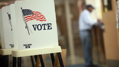 WATERLOO, IA - SEPTEMBER 27: Voting booths are set up for early voting at the Black Hawk County Courthouse on September 27, 2012 in Waterloo, Iowa. Early voting starts today in Iowa where in the 2008 election 36 percent of voters cast an early ballot.  (Photo by Scott Olson/Getty Images)