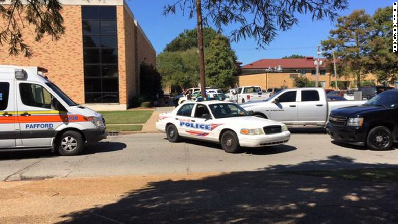 Police locked down the Delta State University campus after Monday's shooting