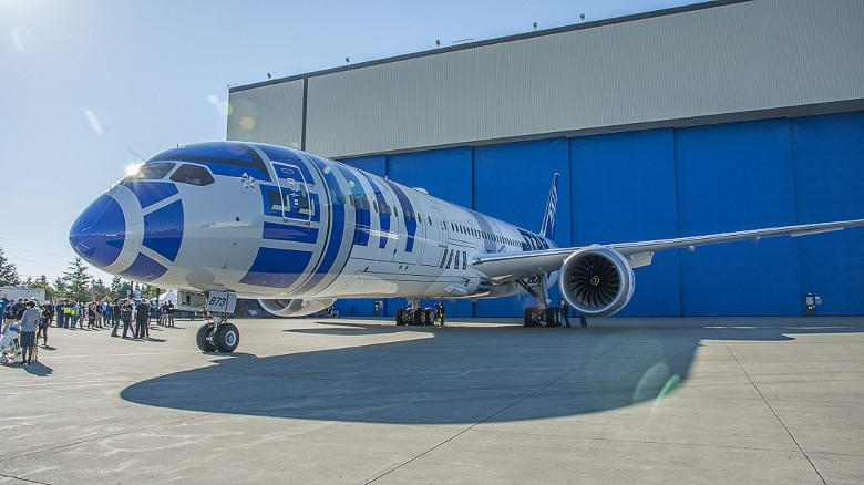 "The fleet of themed planes has been launched as a tie-in with the December premiere of ""Star Wars: The Force Awakens."""