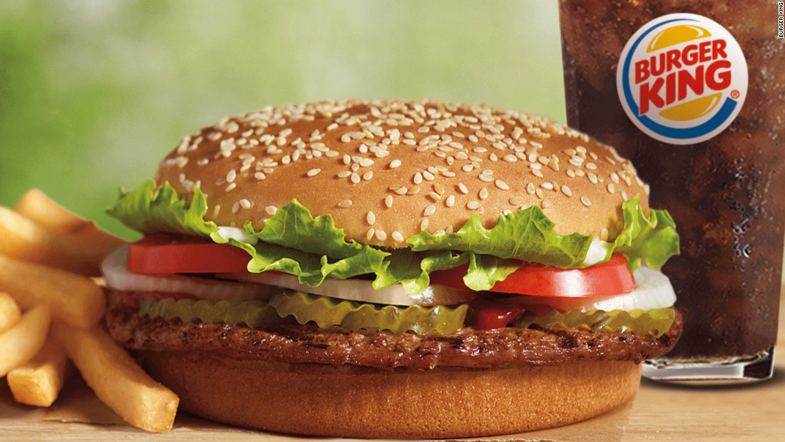 """Burger King earned three points out of a possible 34 and received a grade of F. The company responded to the grade, saying: """"Burger King Corp. is aware of the study and we will review the findings."""""""