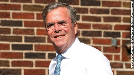 """NEW YORK, NY - SEPTEMBER 08:  Presidential  Candidate Jeb Bush attends the first taping of """"The Late Show With Stephen Colbert"""" on September 8, 2015 in New York City.  (Photo by John Lamparski/Getty Images)"""