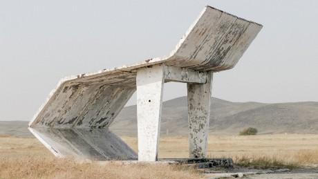 """Christopher Herwig's """"Soviet Bus Stops"""": Kyrgyzstan Taraz"""