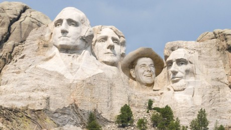 Mount Rushmore with Reagan