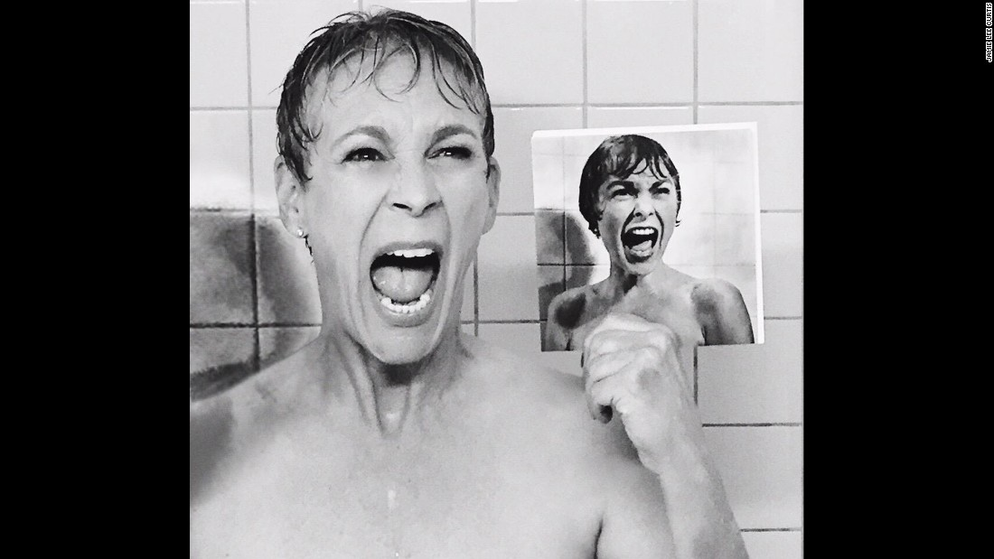 "Jamie Lee Curtis gets her acting gene from parents Janet Leigh and Tony Curtis. Leigh is best known for her role in Alfred Hitchcock's 1960 classic, ""Psycho."" To promote her new series, ""Scream Queens,"" Curtis re-created Leigh's famous shower scene in ""Psycho,"" teasing it on Instagram."