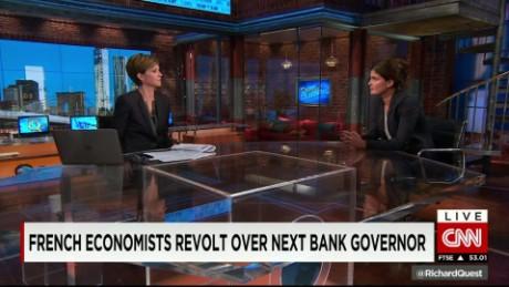 exp Anne-Laure Delatte, economist, CNRS, discusses the revolt against the next central bank chief_00002001