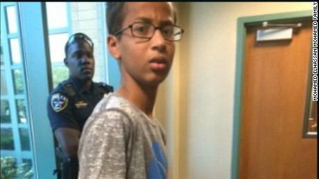 Muslim teen Ahmed Mohamed creates clock, shows teachers, gets arrested: www.cnn.com/2015/09/16/us/texas-student-ahmed-muslim-clock-bomb