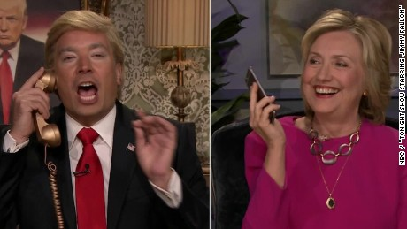 hillary clinton phone call donald trump on late show jimmy fallon orig pkg_00001229