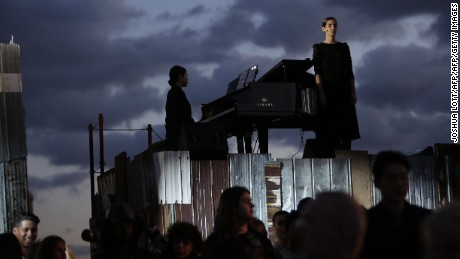 Musical performance at Givenchy SS16.