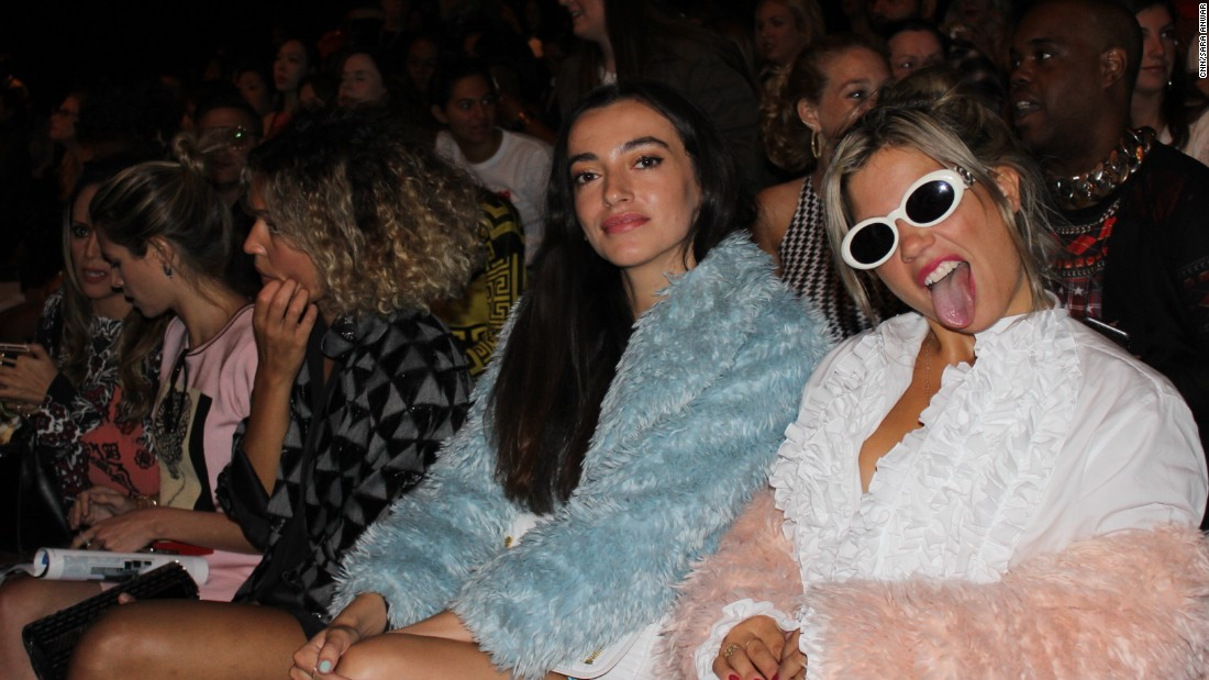 Front row guests wait for the Jeremy Scott show to begin