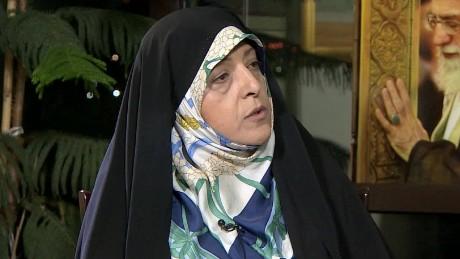 pleitgan iran vice president masoumeh ebtekar intv_00020423