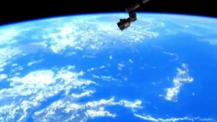 See an orbit of Earth from space