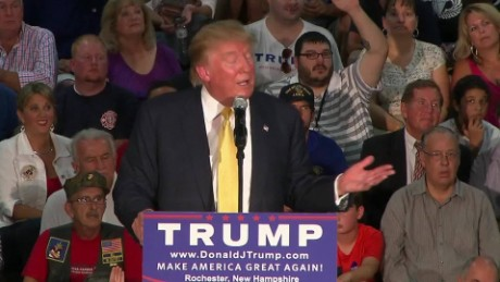 Trump on Carly Fiorina business record question Hewlett Packard Rochester New Hampshire _00000421