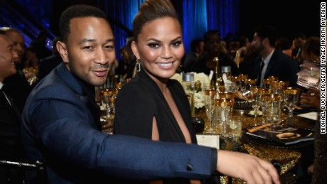 BURBANK, CA - APRIL 26:   Recording artist John Legend (L) and model Chrissy Teigen attend The 42nd Annual Daytime Emmy Awards at Warner Bros. Studios on April 26, 2015 in Burbank, California.  (Photo by Michael Buckner/Getty Images for NATAS)